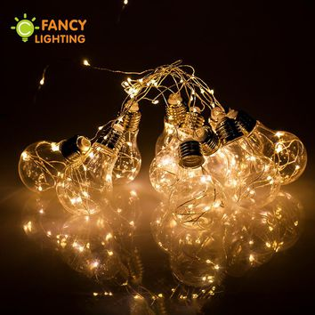 8M Led strip light with 10 pcs led ball 220V Decorative led strip for home Christmas/Weddings/Party Decoration Outdoor led light