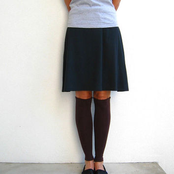 T Shirt Leg Warmers for Her / Chocolate Brown / Espresso / Girls / Winter / Fall / Winter / Nature / Rustic / Soft / Stretch / Cotton