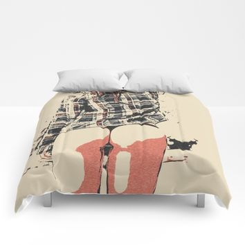 Sexy girls body - we love thigh gap 4 Comforters by Peter Reiss