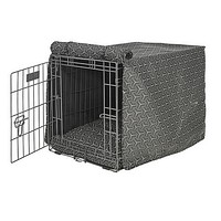 Micro Jacquard Luxury Dog Crate Cover — Cosmic Grey