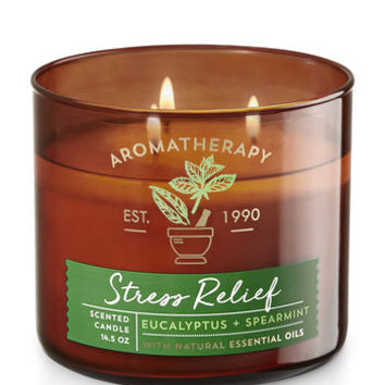STRESS RELIEF - EUCALYPTUS & SPEARMINT3-Wick Candle