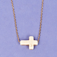 Dainty Cross Necklace $9