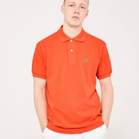 Lacoste Short Sleeve Polo Shirt Orange