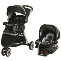 Graco FastAction Fold Sport Stroller Click Connect Travel System, Gotham
