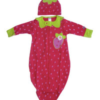 Strawberry Baby Bunting Set