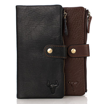 Men Bags Big Size Leather Wallet Soft Phone [9026224131]