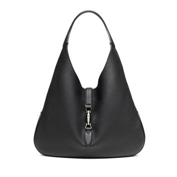 Gucci Jackie Soft Black Leather Handbag 362968 Hobo Bag
