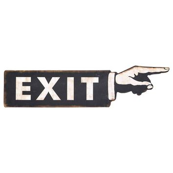 Sign Deco Plate Exit