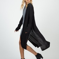 Mid-Length Open Collar Jacket