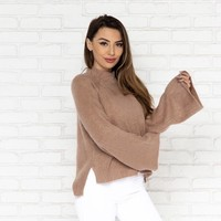 In The Clouds Mauve Knit Sweater