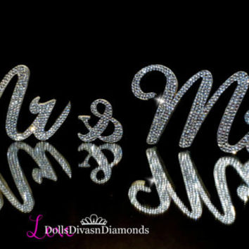 Exquisite Bling Mr & Mrs. Sign Wedding Reception Cake Table