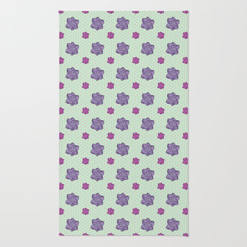Polka Dots and Roses Rug by Octavia Soldani