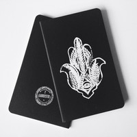Hamsa Hand ScreenPrinted Notebook  One Of A by LafayetteFactory