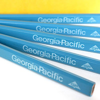 Vintage Carpenter Pencils - Industrial Advertising Office Supply Decor - Georgia Pacific - Instant Collection