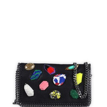 Al Ostoura | Stella McCartney Small Falabella Stone Embellished Shoulder Bag
