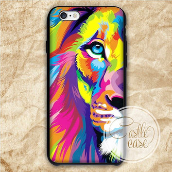 Pop Art Lion iPhone 4/4S, 5/5S, 5C Series Hard Plastic Case