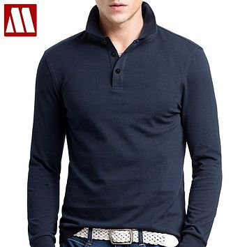 Brand Men Polo Hombre Shirt Mens Fashion Collar shirts Long Sleeve Casual Camisetas Masculinas Plus Size S-XXXL Polos Sweatshirt