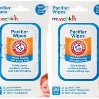 Munchkin Arm & Hammer Pacifier Wipes - 72 Pk - Free Shipping