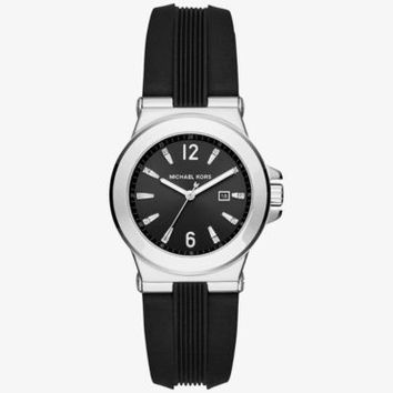 Mini Dylan Silver-Tone and Silicone Watch | Michael Kors