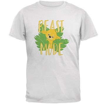 Beast Mode Cute Lion Cub Mens T Shirt