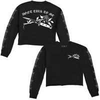 Don't Talk To Me Long Sleeve Crop