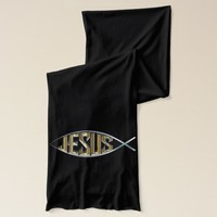 Jesus within a Fish Symbol Scarf