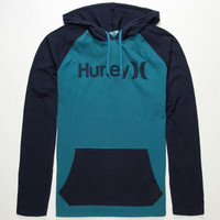 Hurley One & Only Mens Lightweight Hoodie Blue Combo  In Sizes
