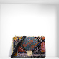 """diorama"" bag in jacquard canvas patchwork - Dior"