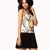 Tiger Drop Waist Dress