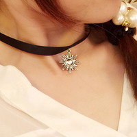 Womens Retro Blace Velvet Choker Adjustable Necklace + Gift Box