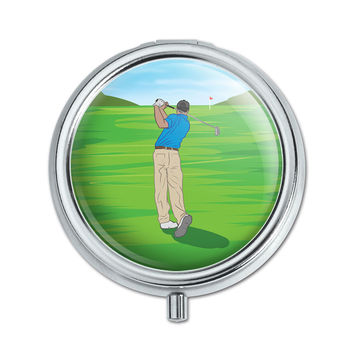 Golf Golfing Golfer Sport Pill Box