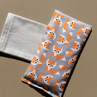 Foxy eye pillow is entirely organic-gift for her-gift for him
