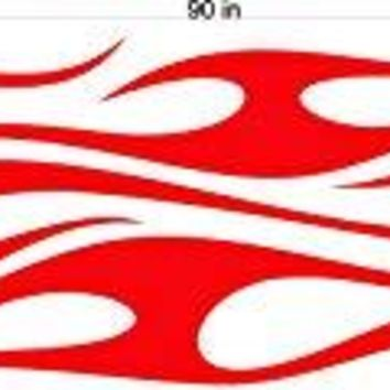 Auto Truck Car Boat Side Flames Tribal Decal Sticker  TF053