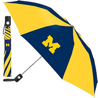 University of Michigan NCAA Auto Folding Umbrella