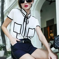 Black & White Contrast Shirt