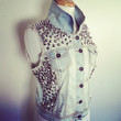 Spiked and Studded Denim Vest // I Did It My Way by prettyghoulish