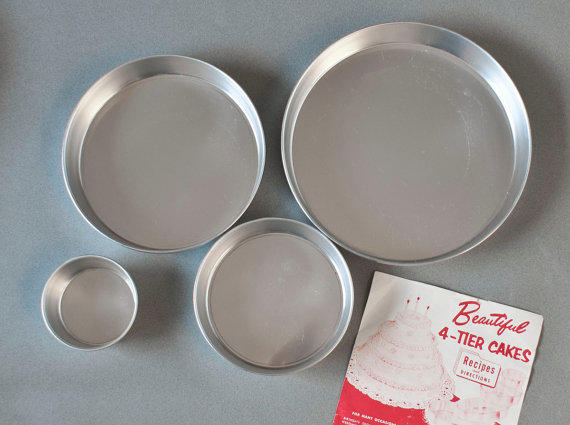 vintage mirro vitality 4 tier cake pan from thewildworld on etsy