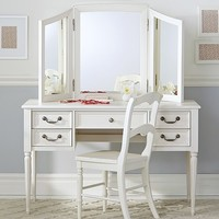 Blythe Desk and Mirror Vanity Hutch | Pottery Barn Kids