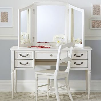 Blythe Desk and Mirror Vanity Hutch | from Pottery Barn Kids