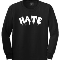 Kings Of NY Hate Goth Blood Font Long Sleeve T-Shirt