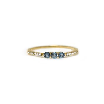 14kt Gold Aquamarine & Diamond Bohemian Dream Ring