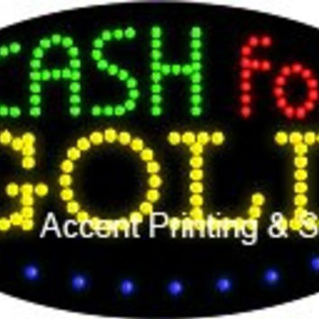 Cash For Gold Flashing & Animated LED Sign (High Impact, Energy Efficient)