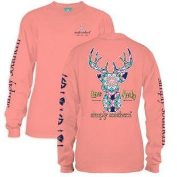 *Closeout* Simply Southern Long Sleeve Tees- DEERLY