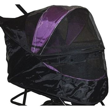 Special Edition No-Zip Pet Stroller Weather Cover Black - PetGear Brand