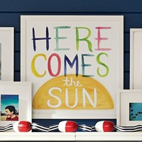 Here Comes The Sun Watercolor Art