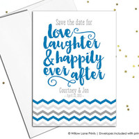 Save-the-date for wedding - save the date cards - save the date printable - save the date postcard - wedding announcement - magnet option