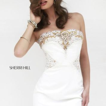 2014 Sherri Hill Fitted Short Homecoming Dress 32032
