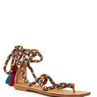 SoludosBraided Gladiator Lace Up Sandals
