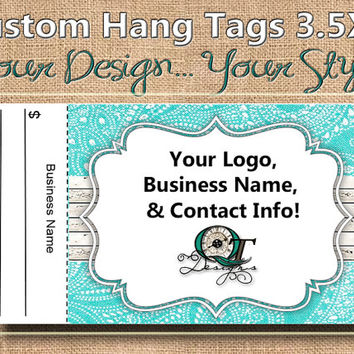 Country Chic Print Custom Hang Tag Business Card Style Printing  Matte  3.5 x 2 inch cards Design services available Sales Tags Shop Tags