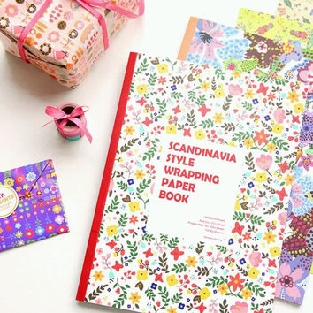Scandinavia Style Wrapping Paper Book - 10 designs with gift tags